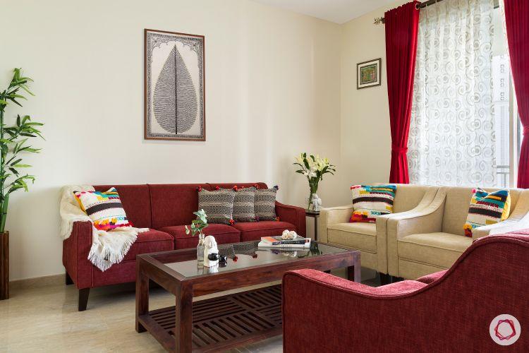 hiranandani-living room-two seater sofa-wall art