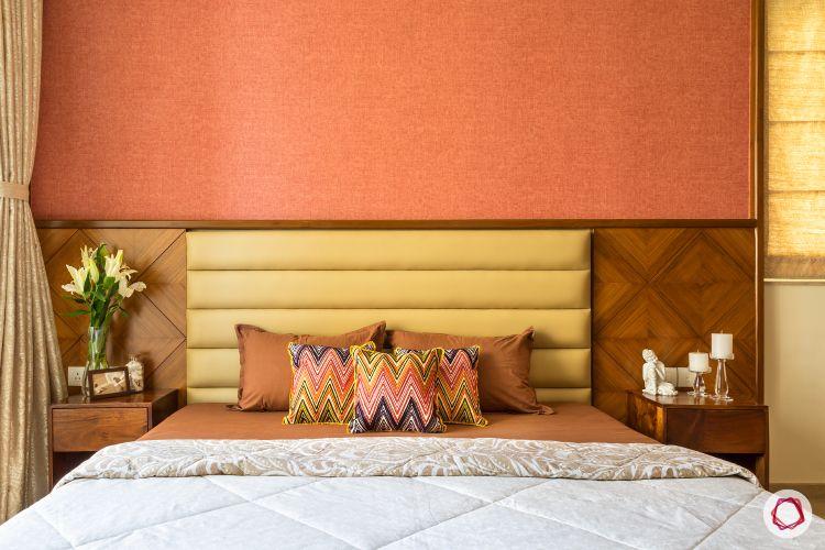 hiranandani-accent wall-master bedroom