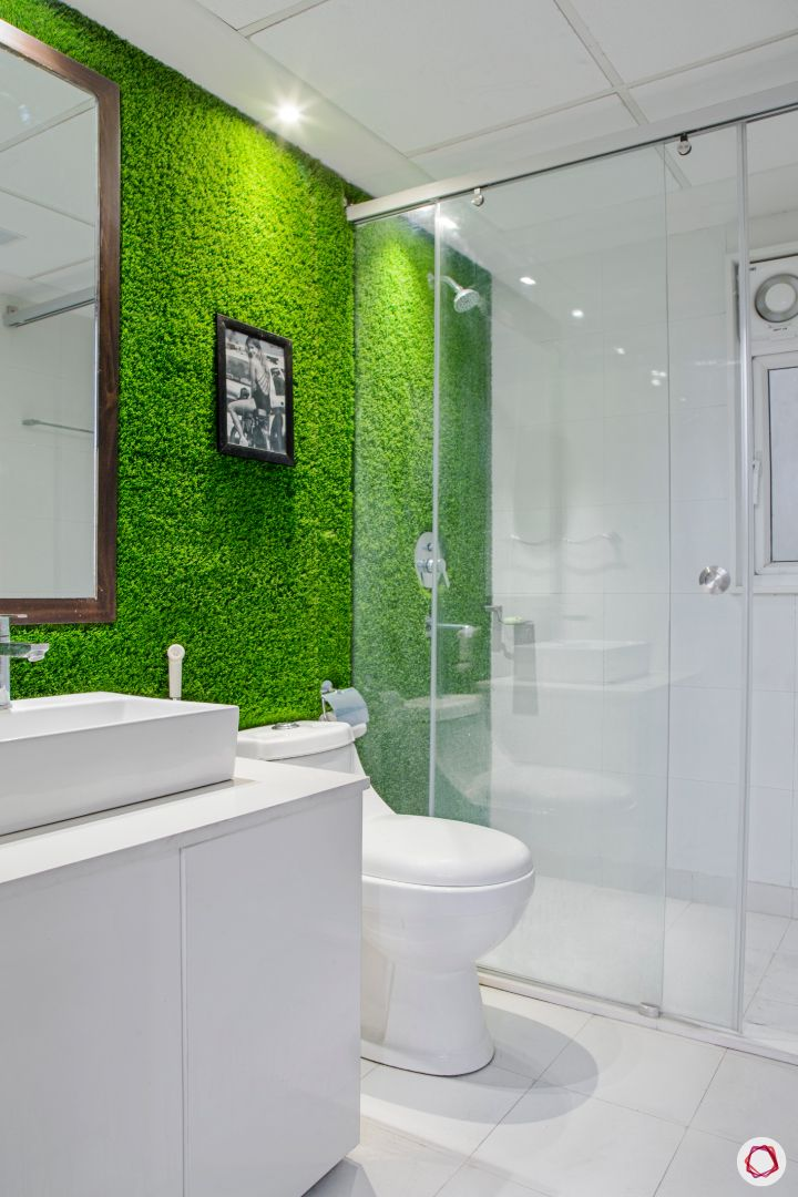 New house design-bathroom-faux grass wall