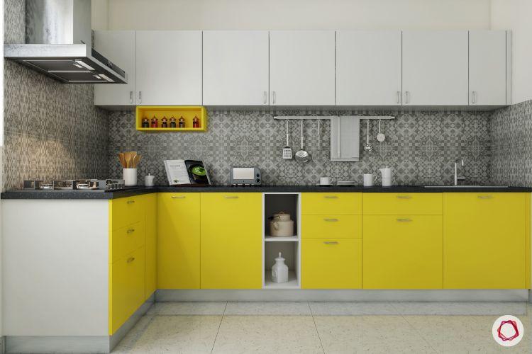Acrylic vs Membrane Finish: L shaped kitchen design