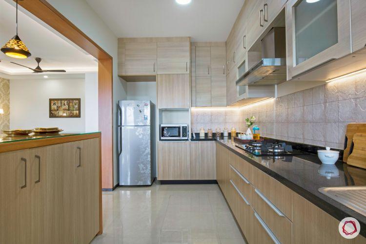 interior kitchen interiors with breakfast counter