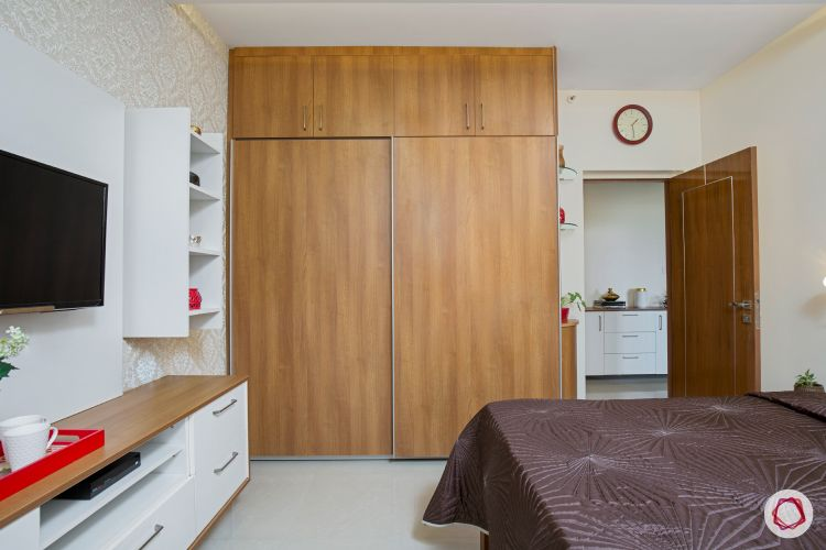interior veneer sliding wardrobe two door