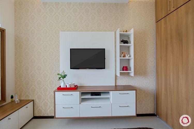 interior Guest room Tv unit in white