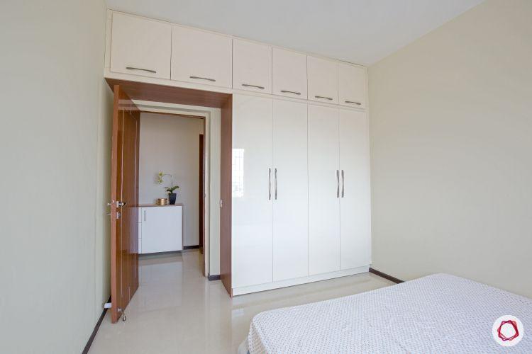 interior white wardrobes in kids room