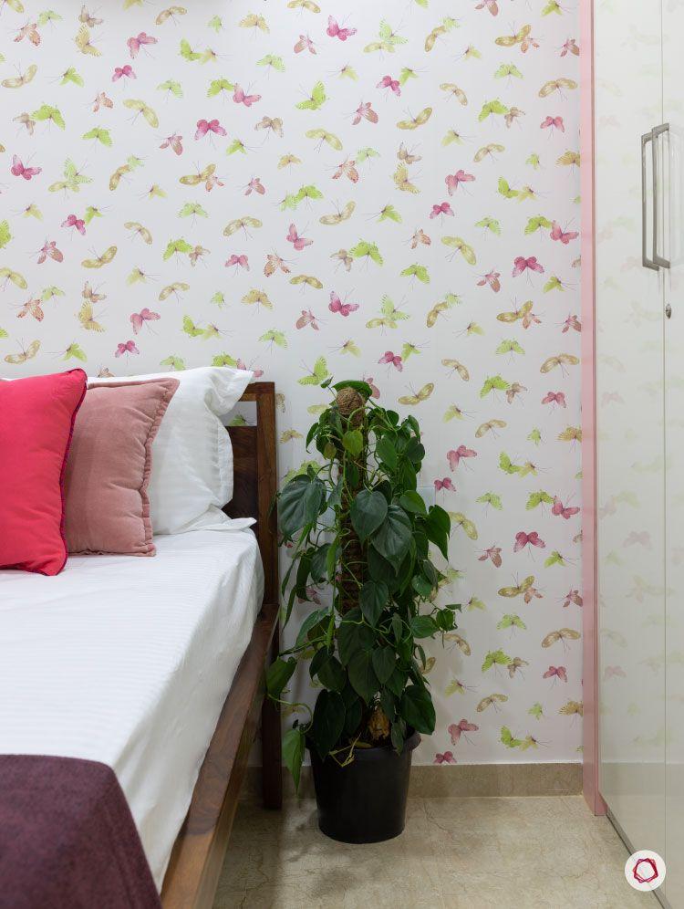 Small home design_girls room wallpaper