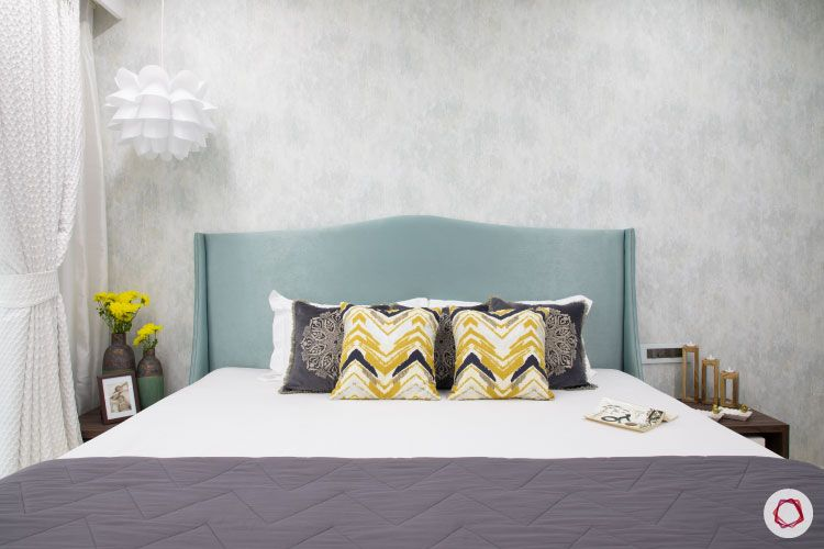 Small home design_master bedroom bed