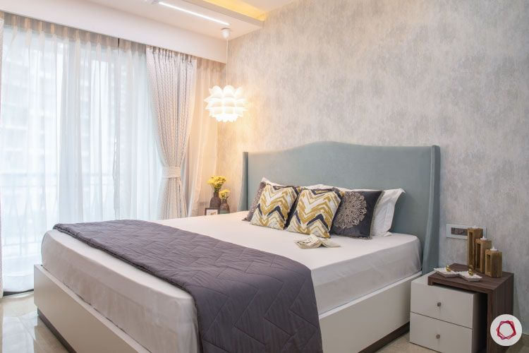 Small home design_master bedroom full view with light