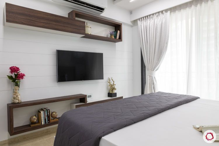 Small home design_master bedroom tv unit