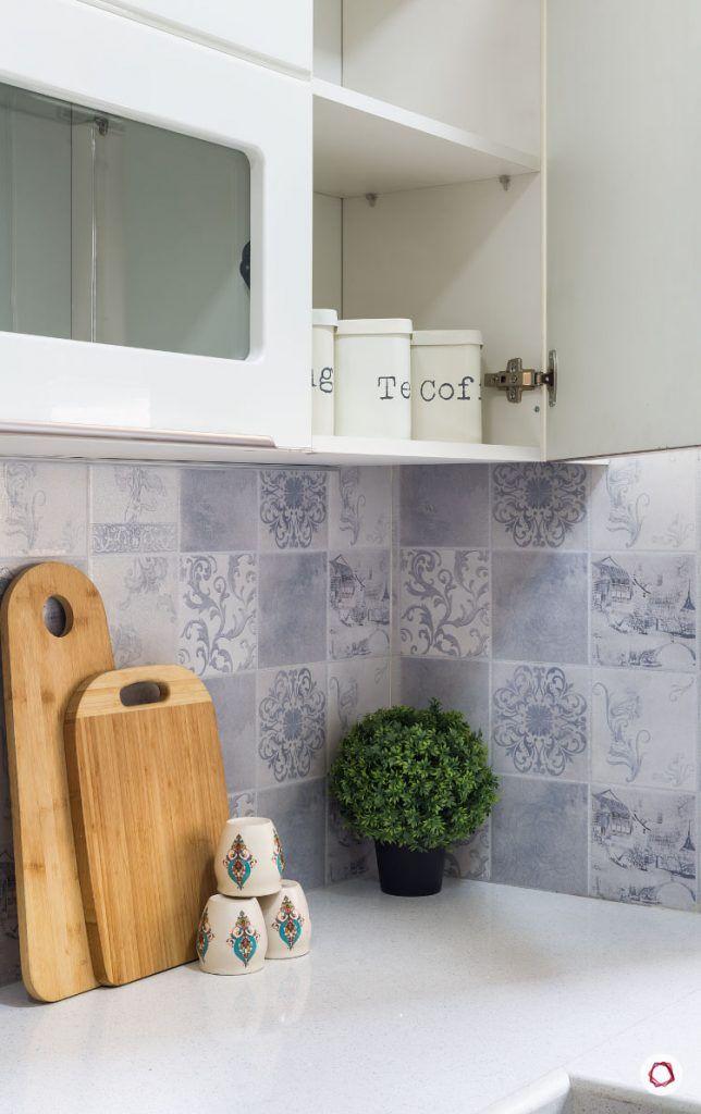 modular kitchen cost-pinted backsplash-cabinet-countertop