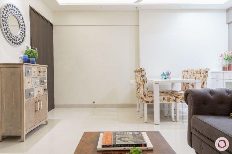2BHK interior design ideas_dining room full view