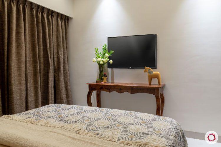 2BHK interior design ideas_guest room tv unit