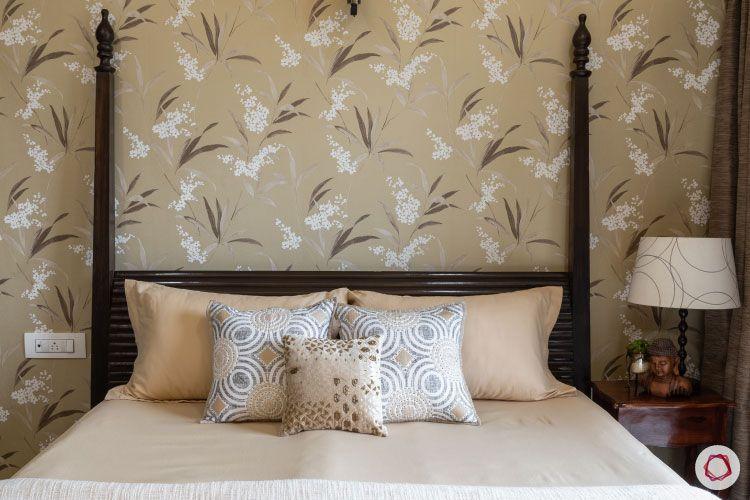 2BHK interior design ideas_guest room wallpaper