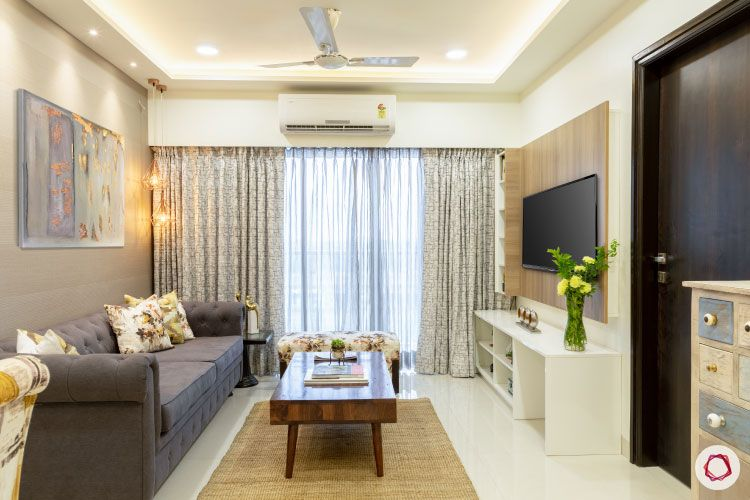 2BHK interior design ideas_living room full view