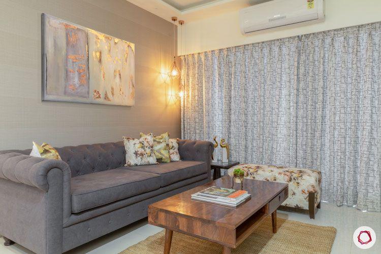 2BHK interior design ideas_living room sofa