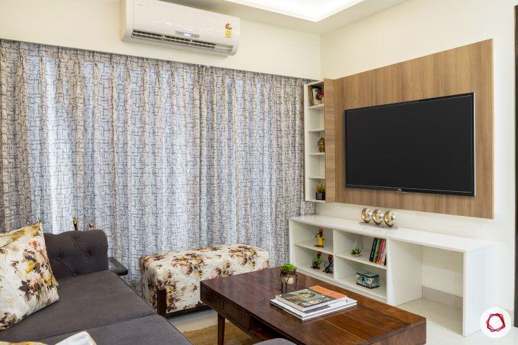 2BHK interior design ideas_living room tv unit