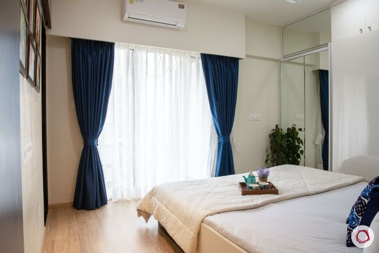 2BHK interior design ideas_master bedroom balcony