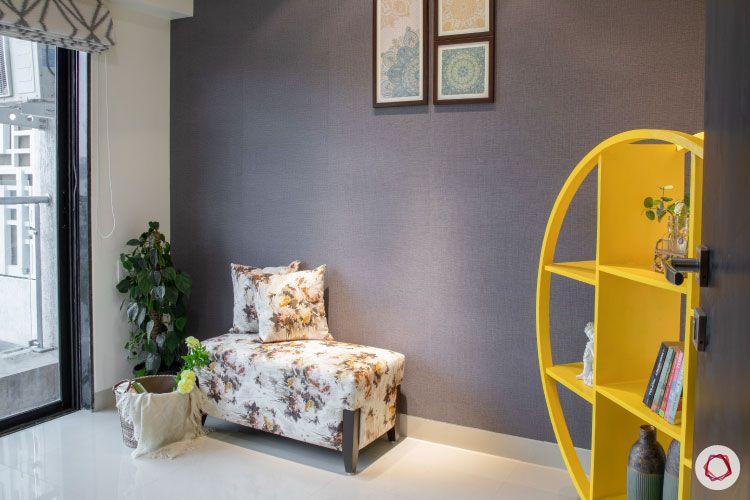 2BHK interior design ideas_reading room couch