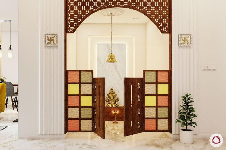 Home temple-colourful door-temple door-pooja unit