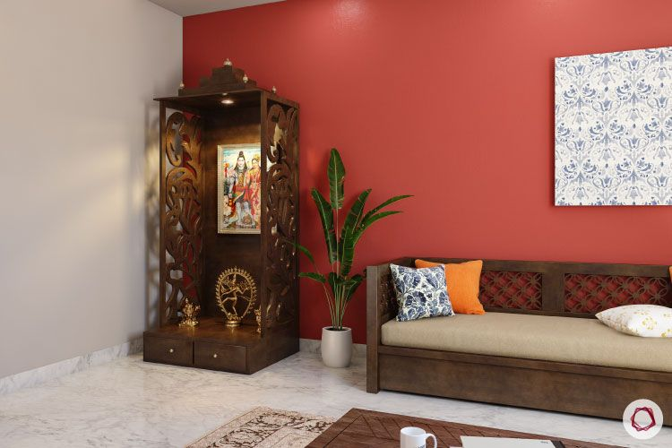 Home temple-compact unit-corner pooja room-woooden unit