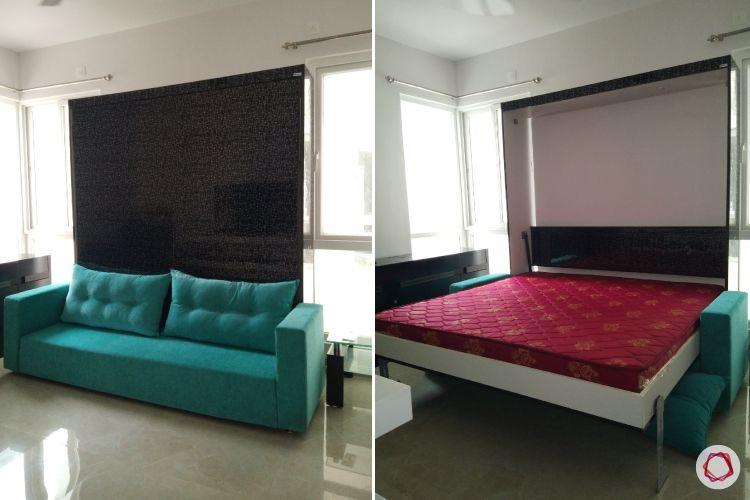 Space saving furniture_foldable sofa cum bed