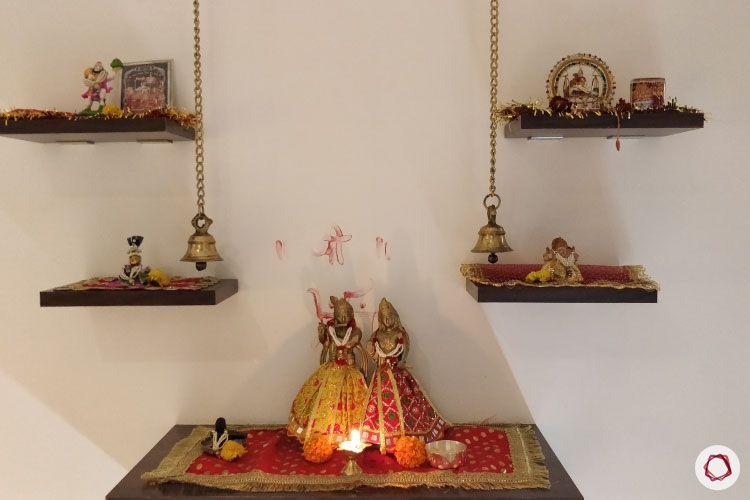 2BHK interior design ideas_pooja corner