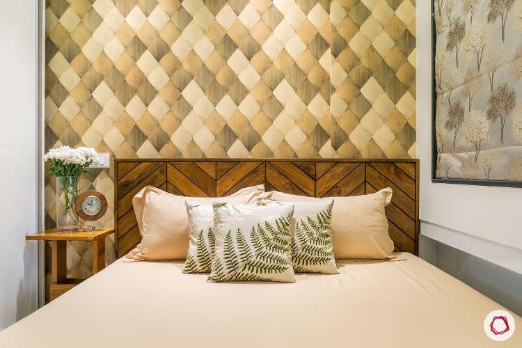 Studio apartments_bedroom bed wall-design