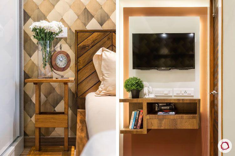 Studio apartments_bedroom tv unit