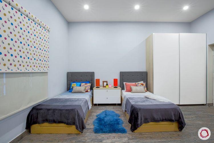 Room interior design_single beds