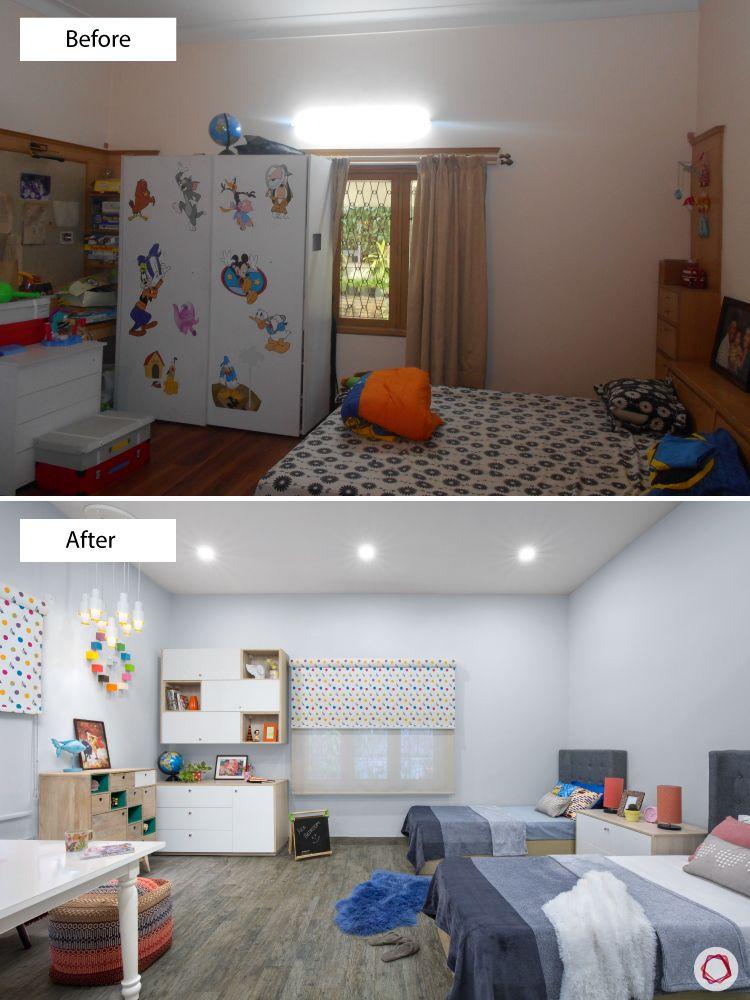 Room interior design_before after 2