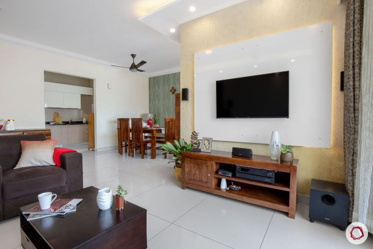 Indian house design_living room with tv unit