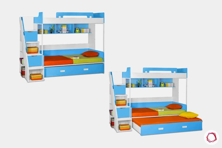 kids-furniture-trundle-bed-with-ladder