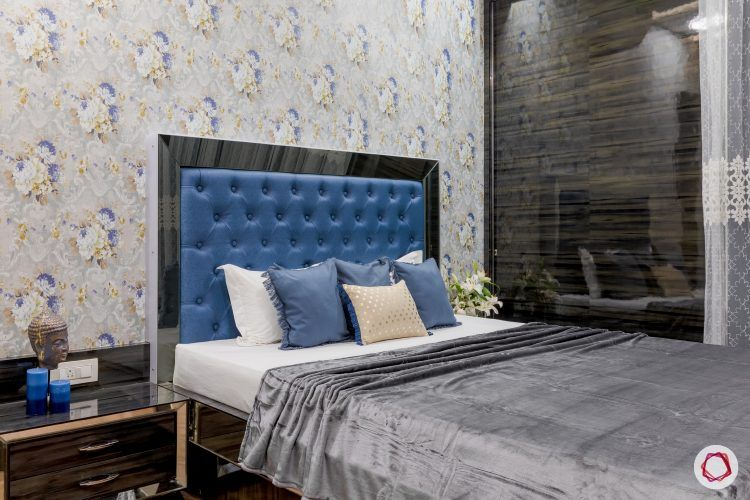 indian-house-design-blue-headboard-bed