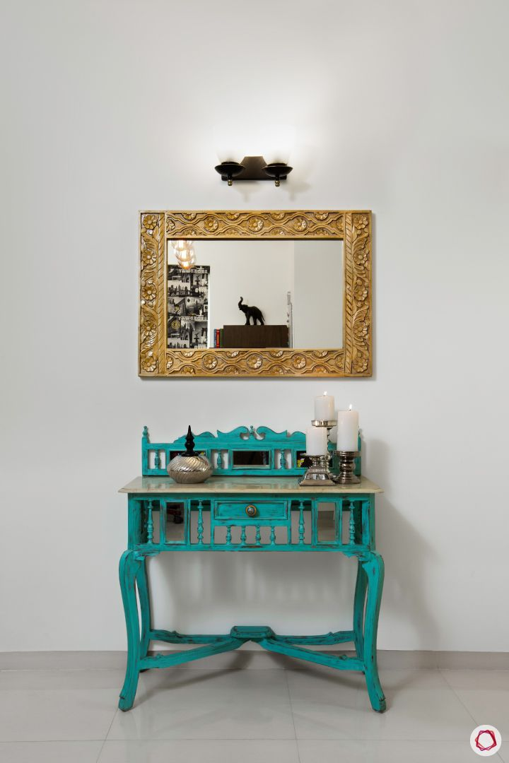 Indian home design_dining room console table