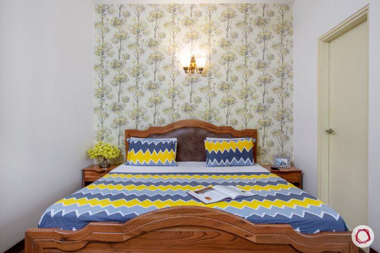 Indian home design_master bedroom bed
