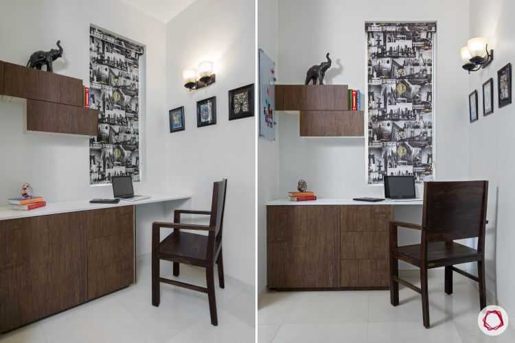 Indian home design_study corner