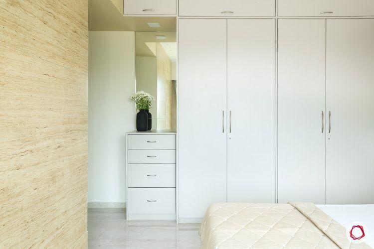 3bhk-house-plan-teal-bedroom-white-wardrobe