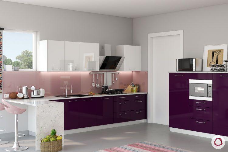 Small kitchen backsplash_glossy