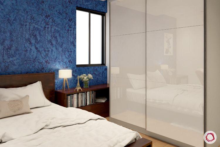 paint or wallpaper indian walls-white wardrobe designs-blue wallpaper