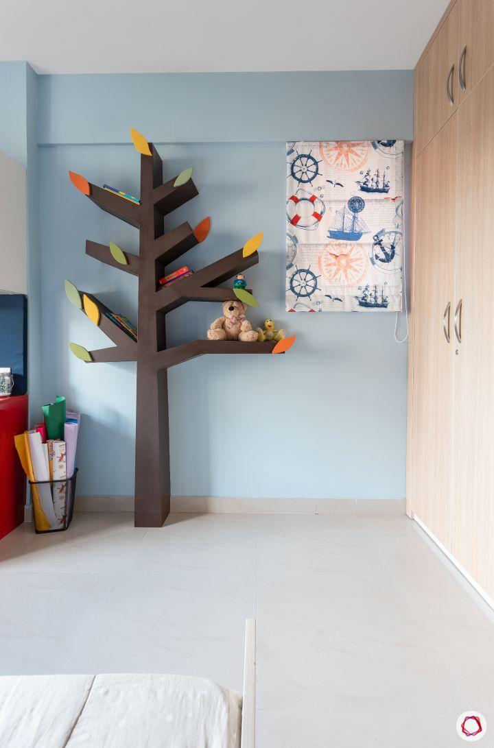 Indian house plans_kids room bookshelf