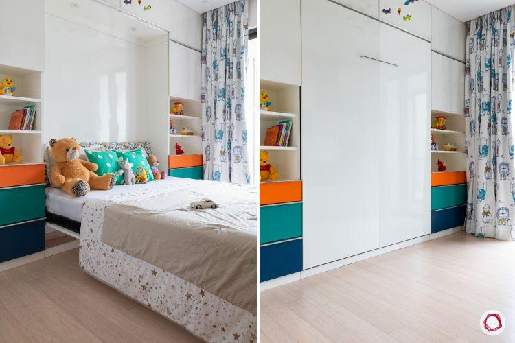 Indian home design_kids foldable bed