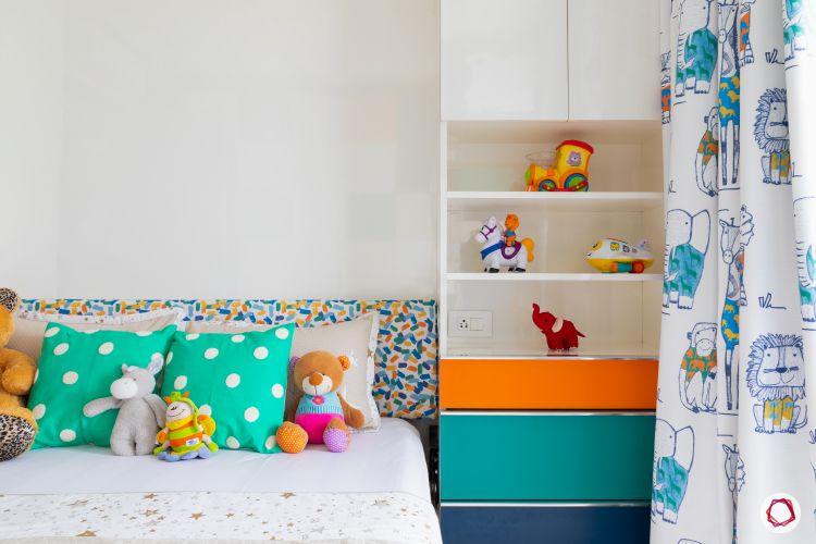 Indian home design_kids room bed
