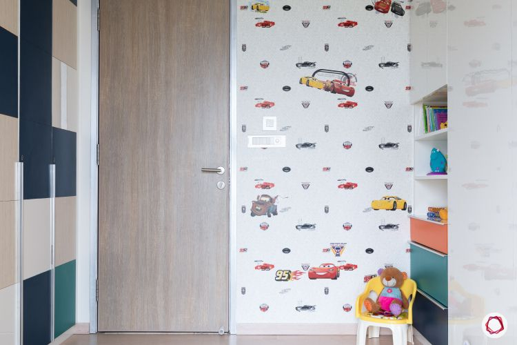 Indian home design_kids room wallpaper
