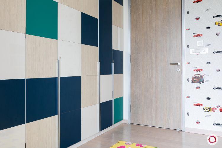 Indian home design_kids room wardrobes