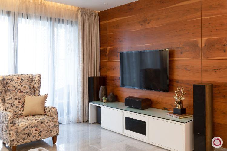 Indian home design_living room tv unit