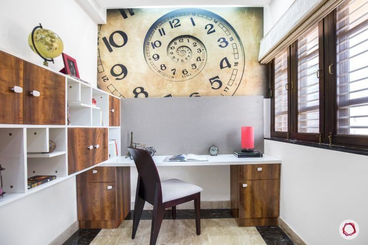 reading-corner-study-table-accent-wall