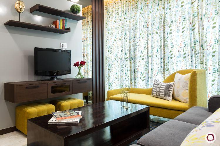 interior design ideas Indian style living room TV