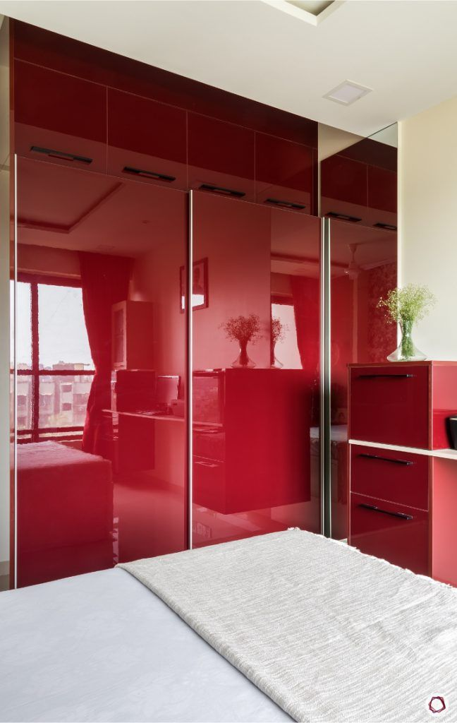interior design ideas Indian style bedroom wardrobe