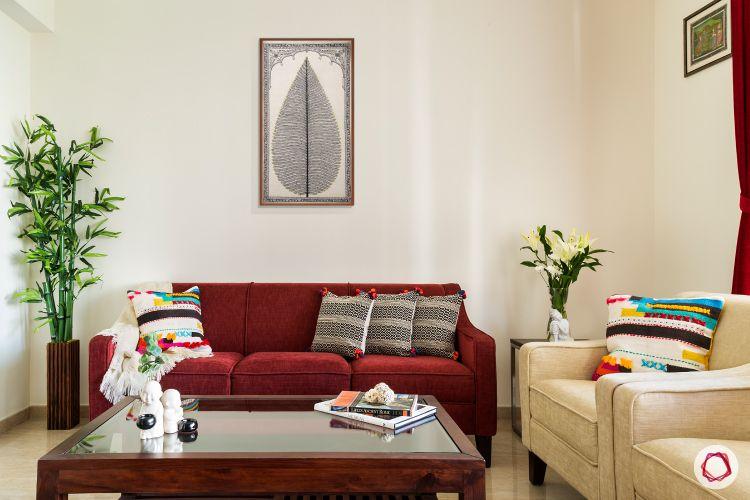 best home design marooon sofa
