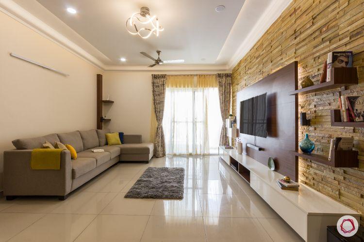 2bhk house plan  living room sofa