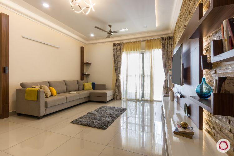 2bhk house plan living room sofa light